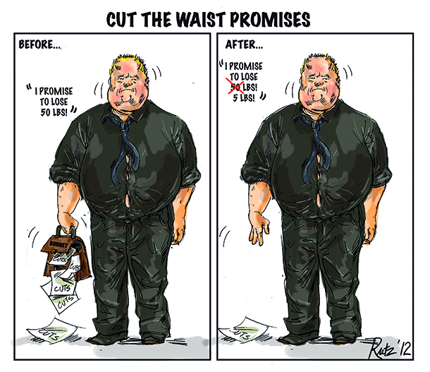 image by rutz depicting Rob Ford's cut the waist promises